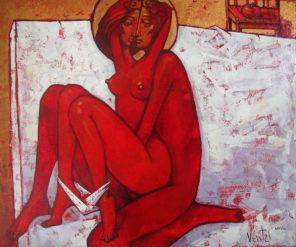 Hymn o miłości dla kochaków, jako ilsutracja ikona małżeńska, której autorem jest Ventzislav Piriankov